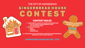 Hackensack Holiday Gingerbread House Contest
